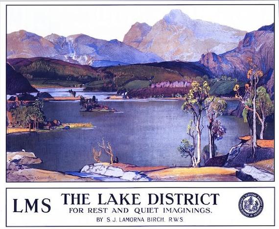 LMS Ullswater Lake District Railway  A3 A2 Print