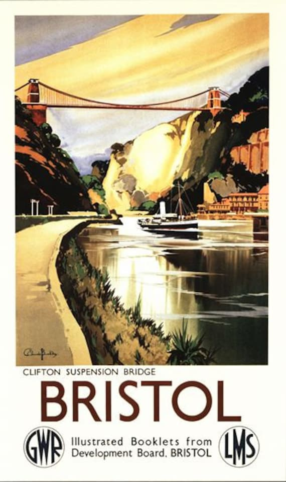 Old Travel Poster reproduction Bristol