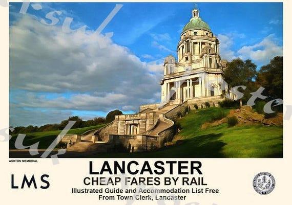 Vintage Style Railway Poster Aberdeen A4//A3//A2 Print