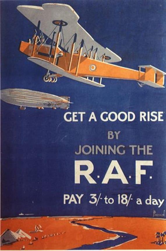 Vintage World War 1 Womens Royal Air Force Poster A3//A2//A1 Print