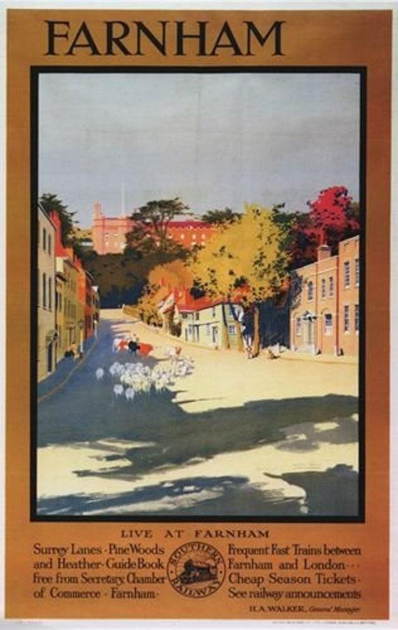 Vintage Southern Rail Tunbridge Wells Kent Railway Poster A4//A3//A2//A1 Print
