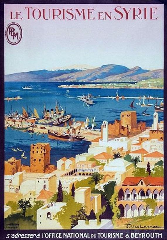 Vintage Syria Tourism Poster A3 Print Etsy