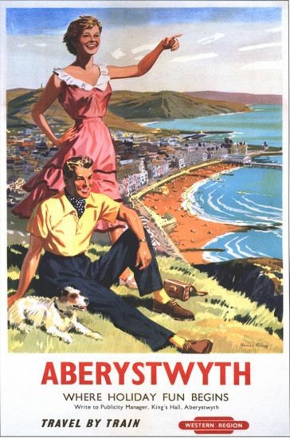 Vintage British Railways Eastbourne Railway Poster A3//A2//A1 Print
