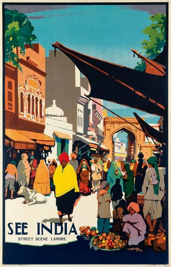 Vintage Indian Tourist Board Promotional Poster A3 Print