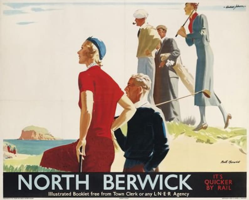 Vintage LNER Berwick upon Tweed Railway Poster A3//A2//A1 Print