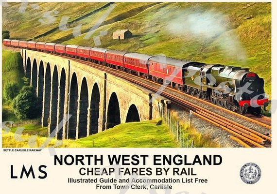 Vintage Style Railway Poster Oxford A4//A3//A2 Print