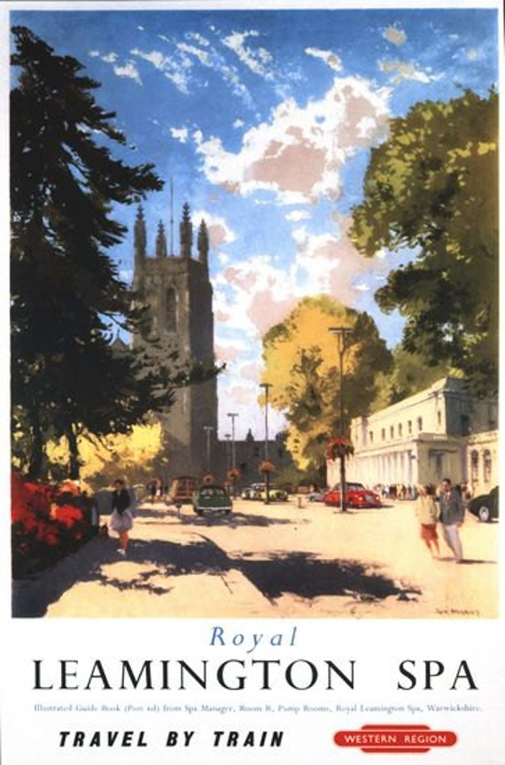 Vintage British Rail Royal leamington Spa Railway Poster A3 Print