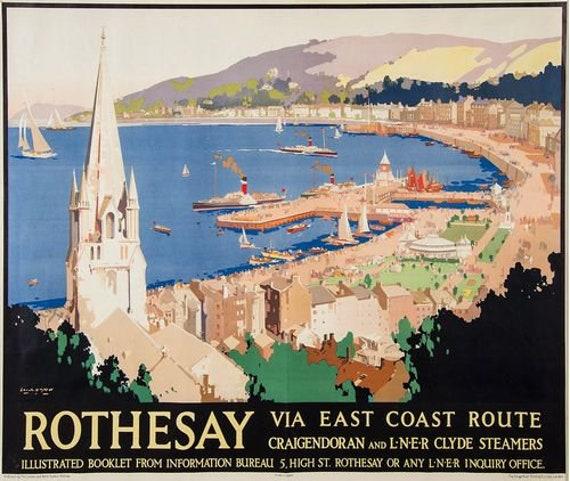 Vintage LNER West Highlands Railway Poster A3//A4 Print