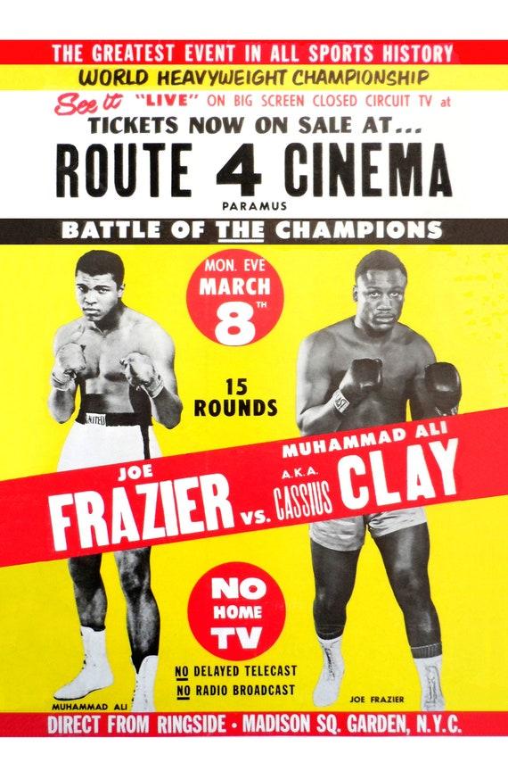 Muhammad Ali Joe Frazier III Repro Fight POSTER