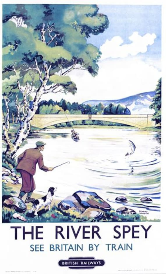 Vintage British Rail River Spey Railway Poster A3//A2//A1 Print