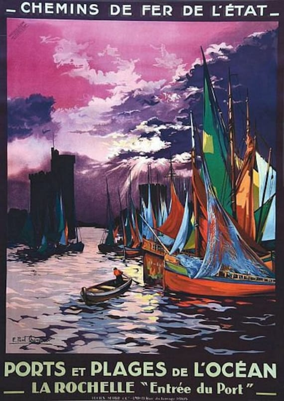 Vintage French Pyrenees Tourism Poster  A3 Print