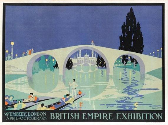 1924 Kew Gardens Promotional  Poster A3 Print