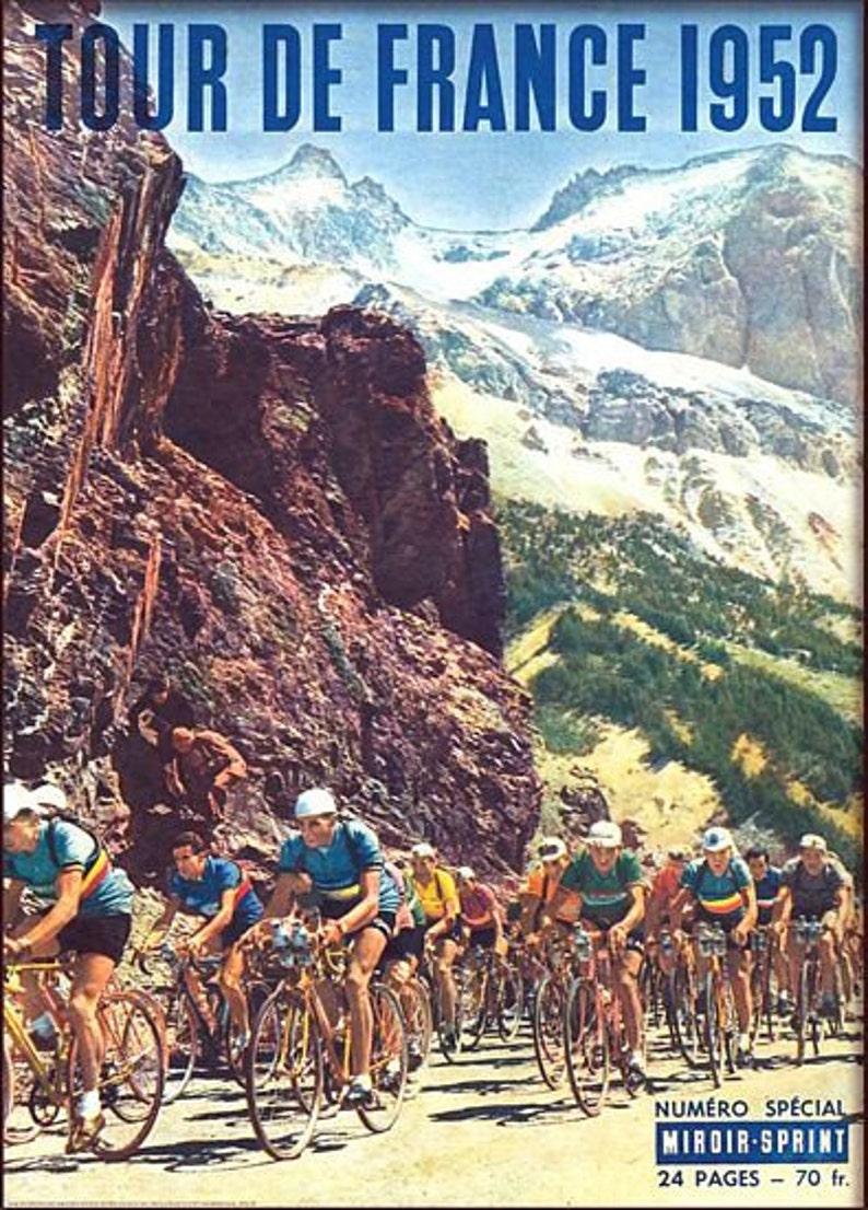 Vintage 1952 Tour de France Cy...