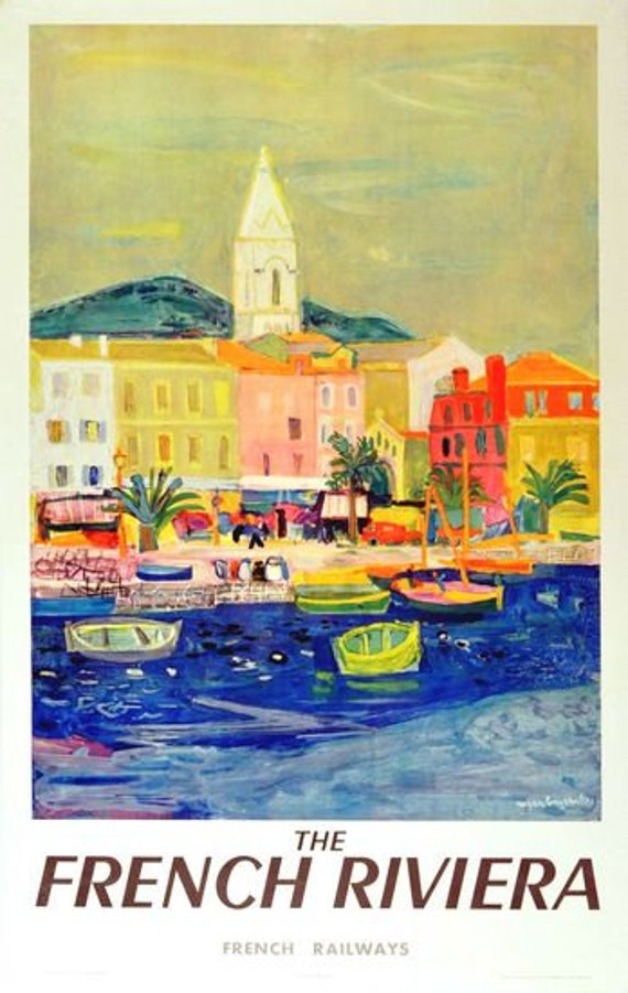 TT50 Vintage Cote D/'Azur French Riviera Travel Poster A3//A2 Re-Print