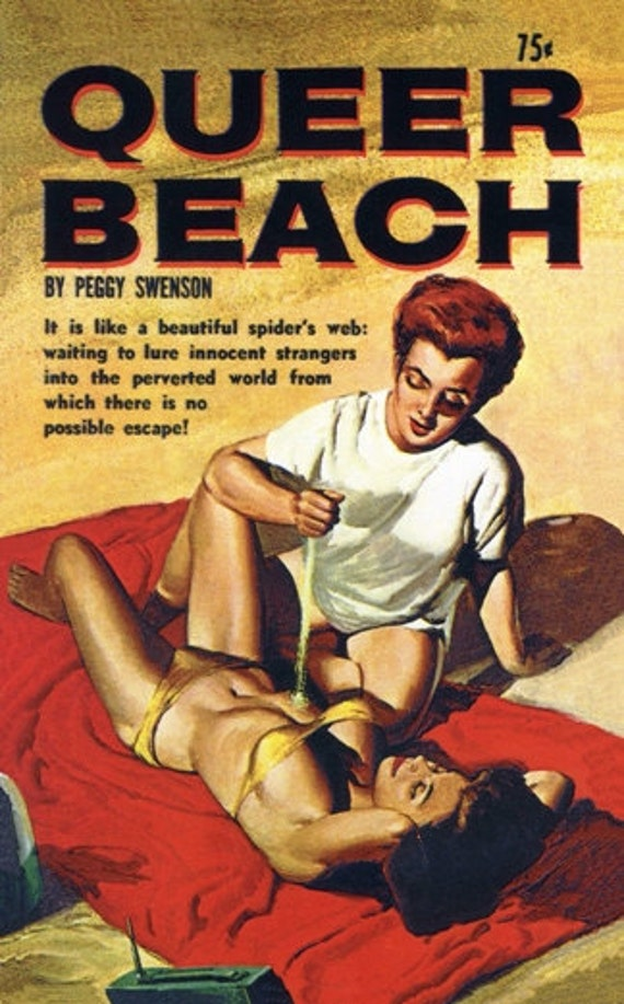 Wall art reproduction. Queer Patterns: Vintage pulp book cover poster