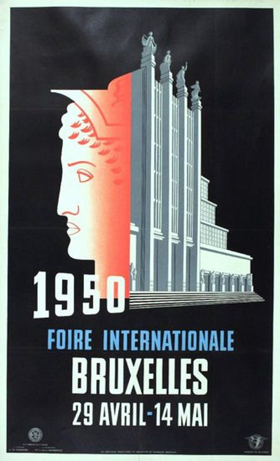 Brussels Expo 1958 Advertisement Poster A3 Reprint
