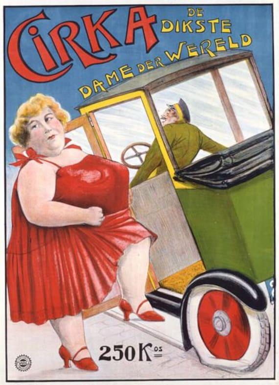 Victorian German Freak Show Circus  Poster A3 Print