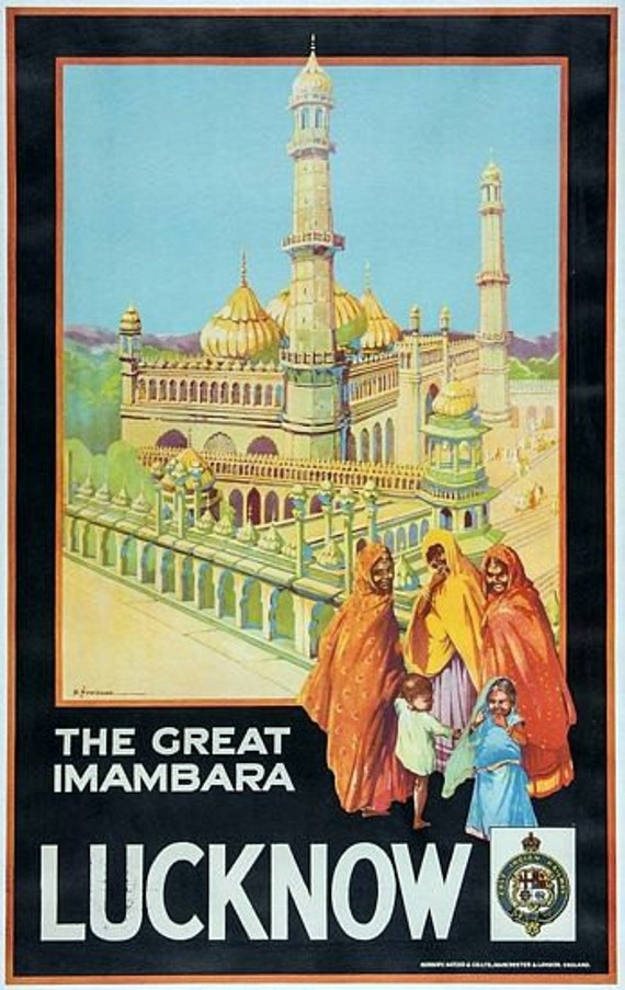 VINTAGE SEE INDIA INDIAN TRAVEL A3 POSTER PRINT