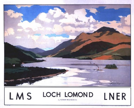 Vintage LNER Firth of Clyde Railway Poster A3//A4 Print