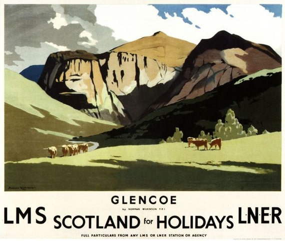 Vintage LMS Lake District Holidays Railway Poster A4//A3//A2//A1 Print