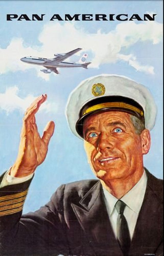 Vintage Colombian Airline Poster  A3 Print