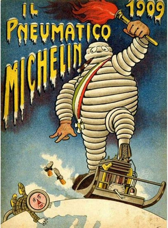 VINTAGE MICHELIN TYRES ADVERTISING A3 POSTER PRINT