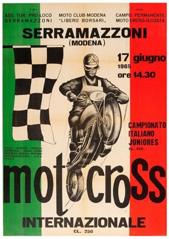 1934 VINTAGE  ITALIAN RACING POSTER A3 REPRINT