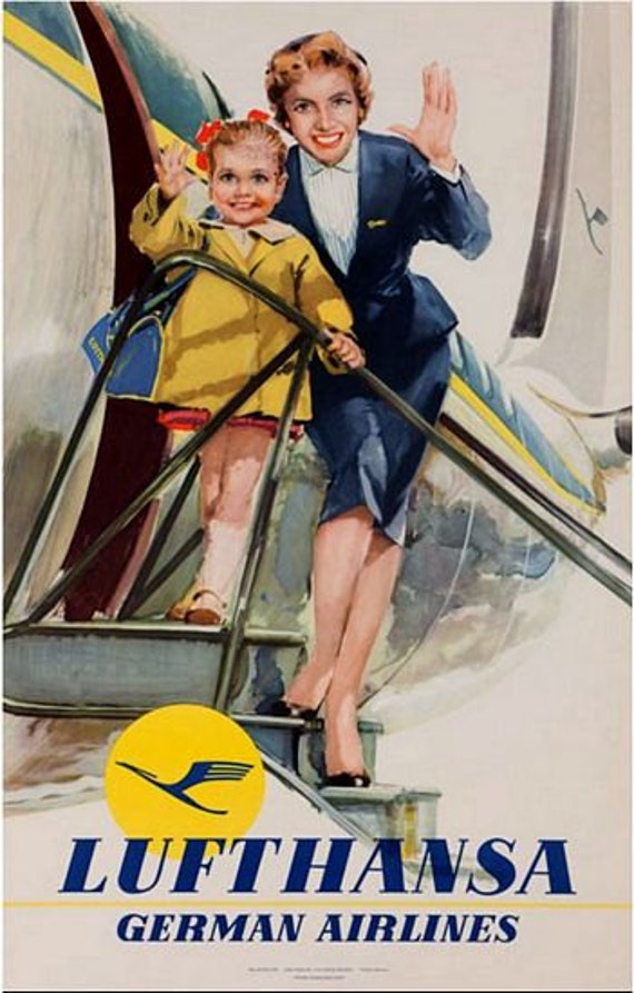 A2  Reprint Vintage Swedish Airline Poster A3