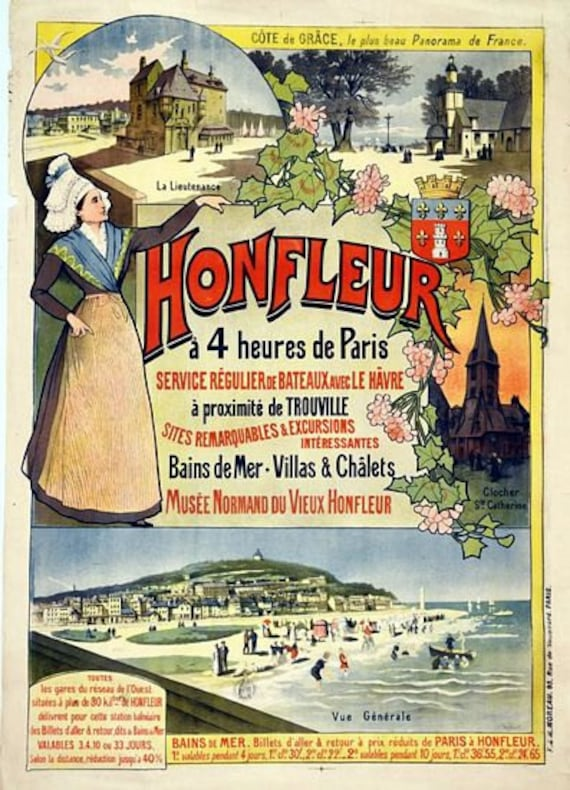 Vintage Bretagne Brittany French Tourism Poster A3 Print