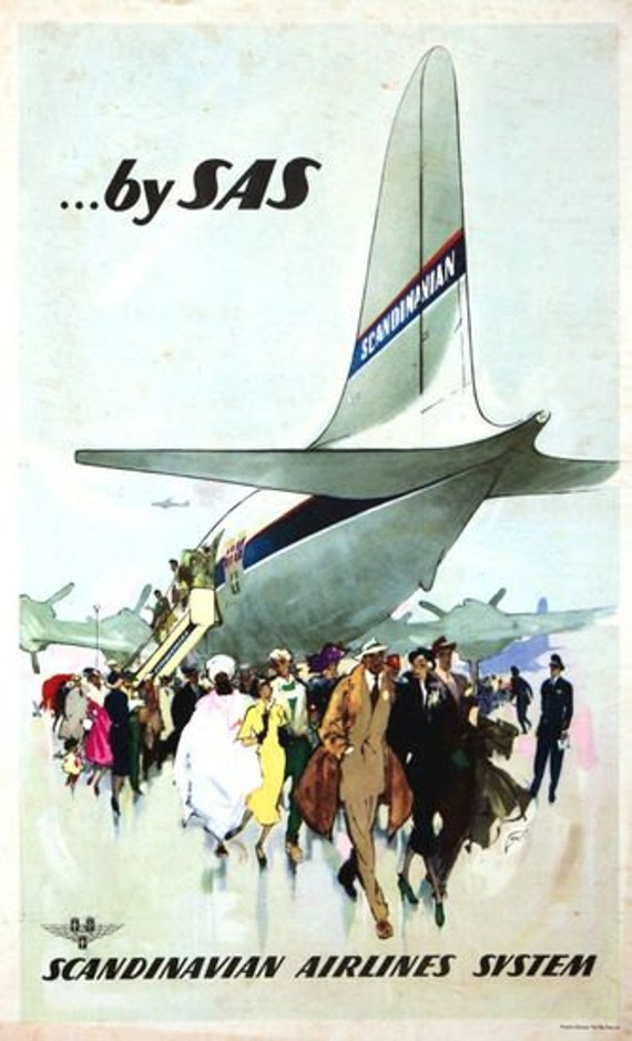 Vintage Pan Am Flights to Africa Airline Poster A3 Print