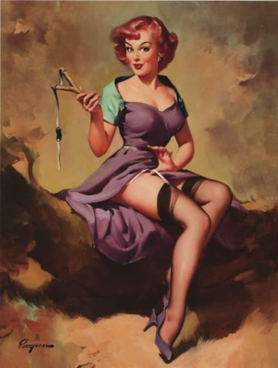 1950/'s Vintage Pin-Up Girl U For Underwear  Poster  A3 A2 Print