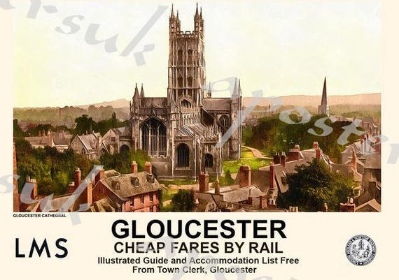 Vintage LMS GWR Cheltenham Cotswalds Railway Poster A3 A2  Reprint