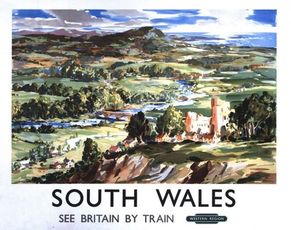 British Rail Weston Super Mare Railway Poster A3//A2 Print