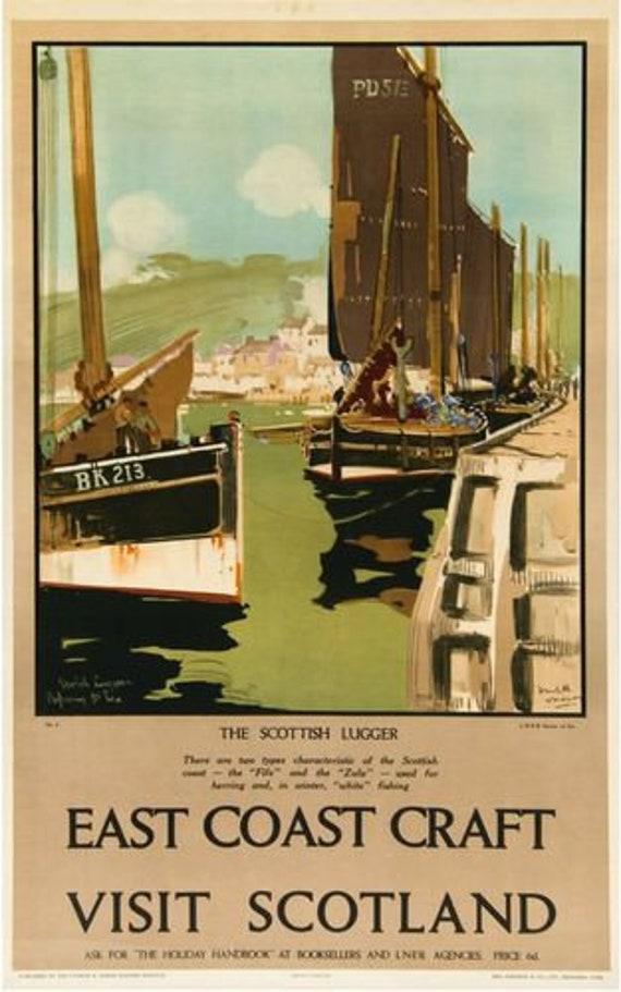 Vintage LNER Fraserburgh Railway Poster A3//A2//A1 Print