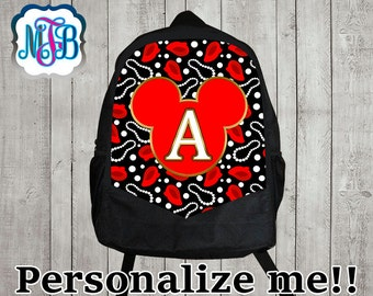 Personalized minnie backpack/minnie mouse backpack/minnie mouse inspired backpack/personalized  backpack/ monogrammed backpack/B19