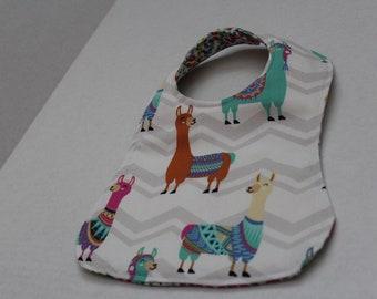 Llama Baby Bib - Custom & Reversible