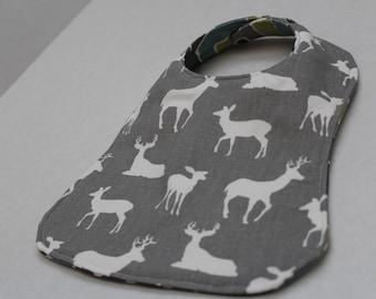 Deer Baby Bib - Custom & Reversible