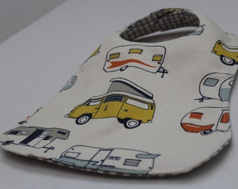 Retro Baby Bib - Custom & Reversible