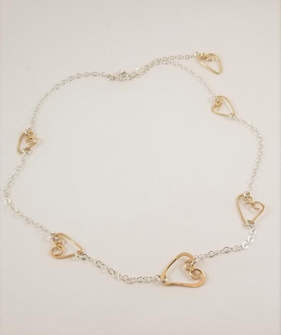 Gold Filled Heartfelt Short Necklace/ Mother's Day Heart Necklace/ Gratitude Heartfelt Necklace