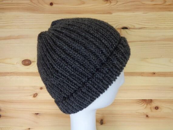 Merino Fisherman Beanie Handknit Wool Fisherman Hat Merino  413ae8111f3