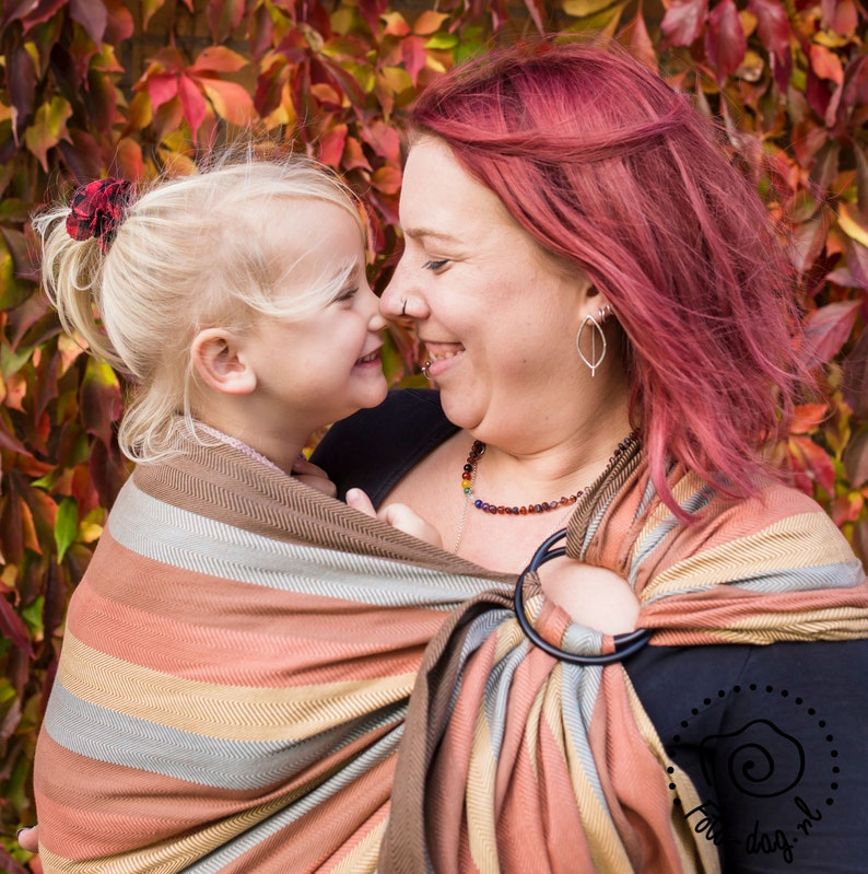 baby sling for infant and toddler newborn essential Ring Sling Baby Carrier travel carrier gift for new mom Daiesu Hazelnut