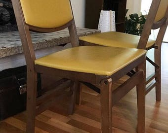 Vintage Yellow Chair Stakmore Folding Chair Vintage Wood Chair