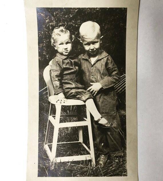 Vintage Baby Photo Sepia Black And White Vintage Family Etsy