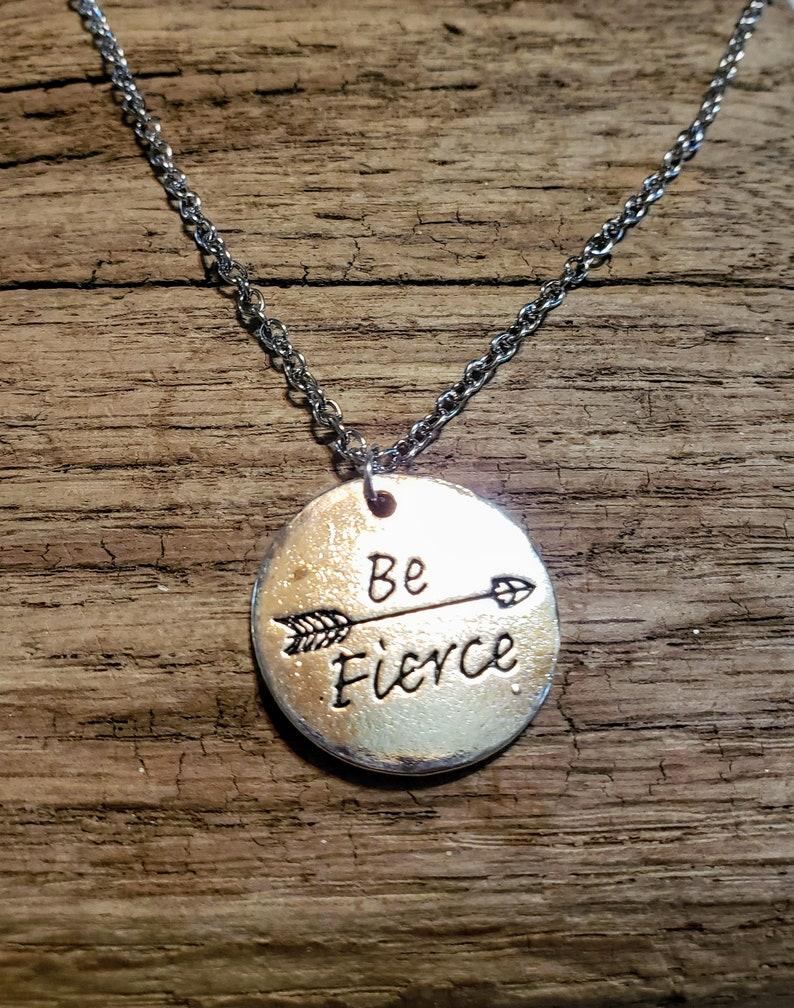 Be Fierce necklace strong woman fierce feminist image 0