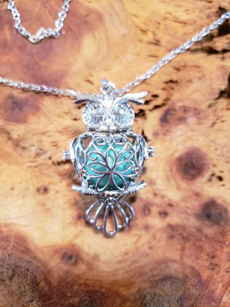 Angel Caller Pendant harmony ball chime large owl locket image 0