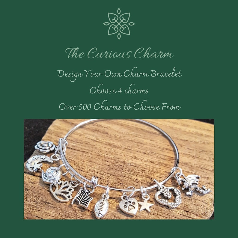 Design Your Own Custom Charm Bracelet Build Your Own Bangle image 0