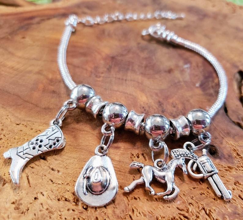 European style charm bracelet 2 sizes Adult and Child image 0