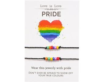 Pride Rainbow Bracelet Duo