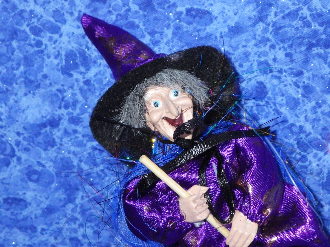Vtg Violet GOOD LUCK WITCH from Germany