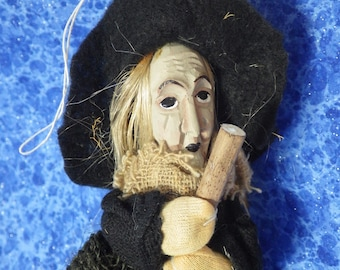 """Vintage German Kitchen Witch Küchenhexe for Good Luck and for Walpurgis Nicht """"Witches Night"""" NEW OLD STOCK"""
